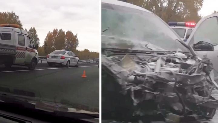 В аварии на трассе М-5 под Челябинском погиб пассажир Opel Astra