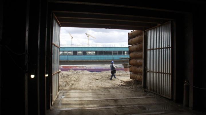 В Новосибирске переход к станции метро «Спортивная» планируют завершить до конца года