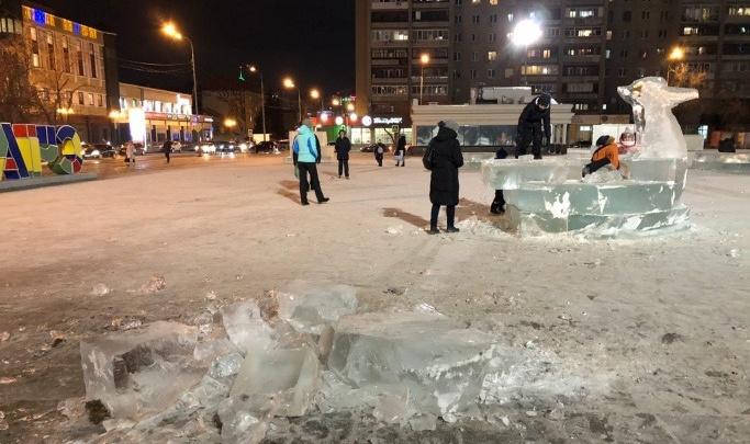 Власти Тюмени нашли нарушения в ледовом городке. Оказывается, он был не очень