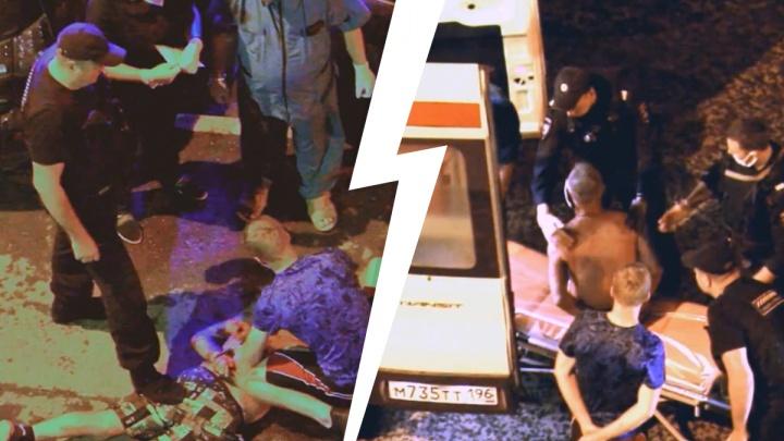 «Мог напасть и порезать прохожих»: на ВИЗе скрутили неадекватного окровавленного мужчину