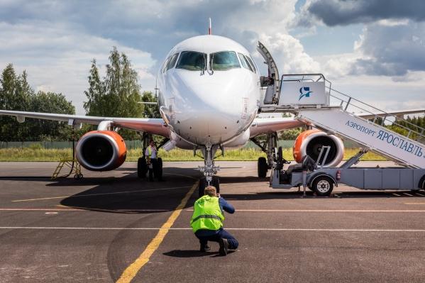 Самолеты на курорты будут летать из Ярославля все лето