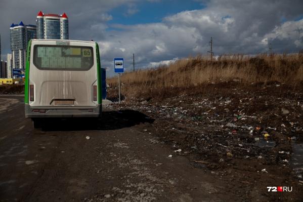 Сошедший снег обнажил горы мусора