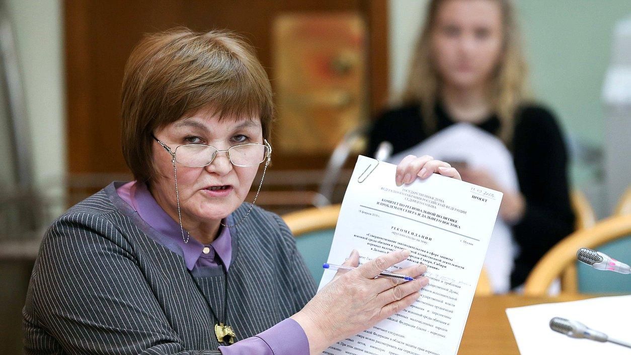Гоголева отстаивает интересы коренных и малочисленных народов Севера. Например, по ее инициативе в Югре стали отмечать Международный день родного языка и Международный день коренных народов мира