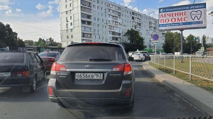 Очевидцы: «Московское шоссе сковали гигантские пробки»
