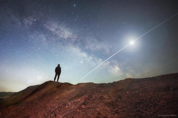«Наблюдая МКС», фото сделано на Уральском Марсе