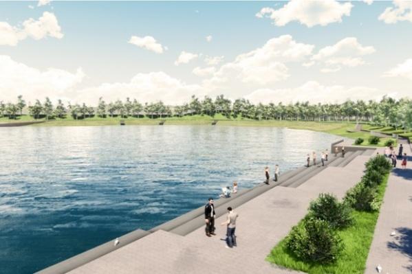 Так в скором времени будет выглядеть парк «Кашкадан» в Сипайлово