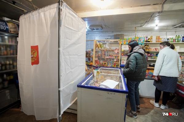 Выборы как по маслу: избирательных участок организовали прямо среди торговых витрин