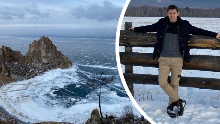 Уральский модельер, который шьет одежду для Путина, показал замерзший Байкал со всех ракурсов