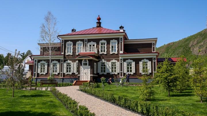 Школа-коммyна, дом отдыха, а теперь музей: в Красноярске открыли после реставрации летний дом архиерея