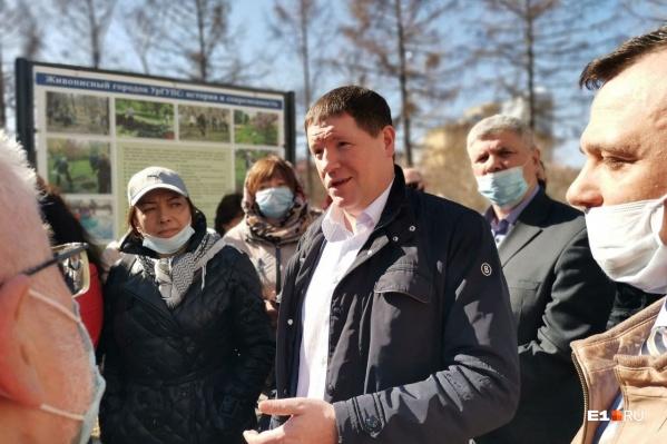 Сергей Бидонько попытается уговорить силовиков, чтобы они разрешили не строить забор со стороны пруда