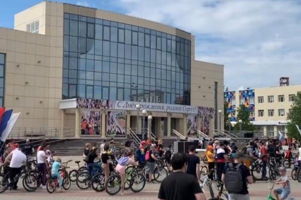 Отличная погода позволила многим сургутянам принять участие в велопробеге