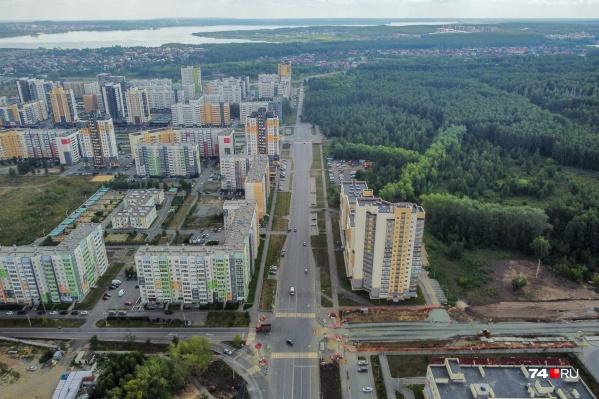 Зеленый участок между Тополиной аллеей, ЖК «Ньютон» и строящимся олимпийским хоккейным центром «Шайба» могут отдать под социальные объекты и каток