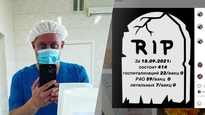 Главврач екатеринбургской больницы стал публиковать честную ковидную статистику в Instagram