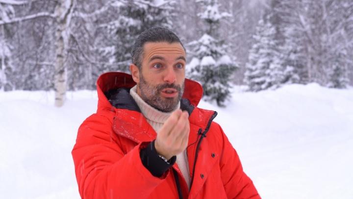 Повара из Италии накормили снегом в Кузбассе. И ему понравилось