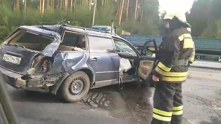 На ЕКАД собралась пробка из-за серьезной аварии