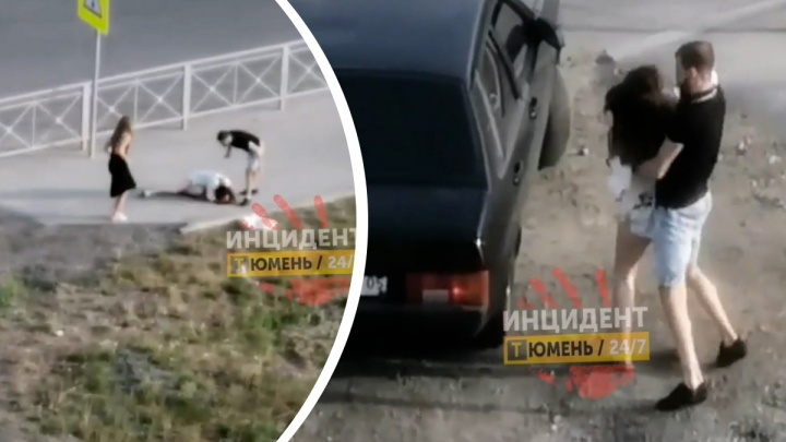 В Тюмени девушку избили и силой затолкали в машину с дагестанскими номерами. Авто объявили в розыск