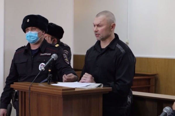 Дмитрий Ведерников на суде в Чите