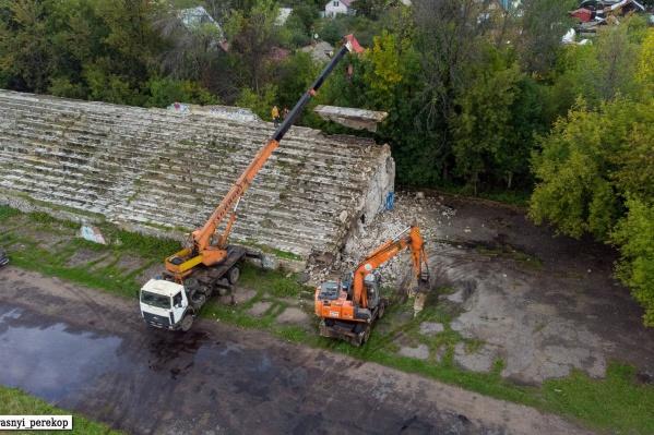 В Ярославле сносят стадион «Красный Перекоп»