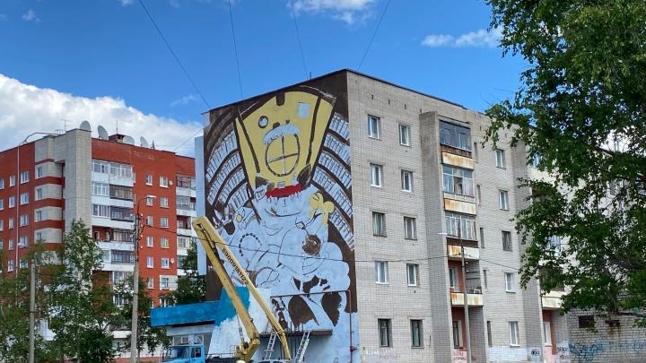 В Северодвинске на здании появится картинка-ребус: показываем процесс