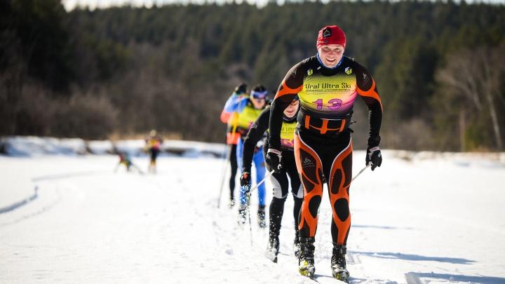 На Урале лыжники проехали 100километров по льду замерзшей реки