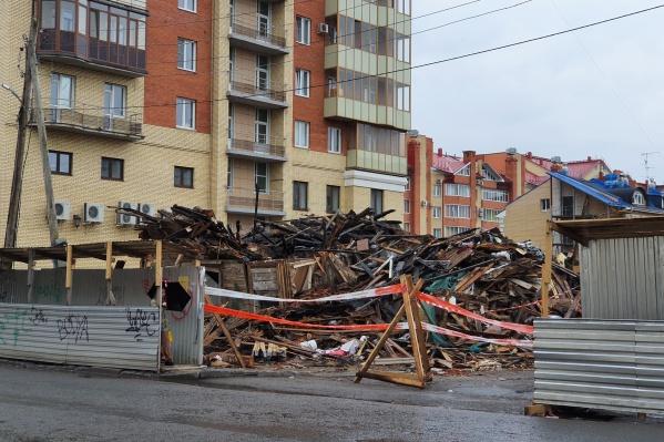 Дом Киселева уже разобрали