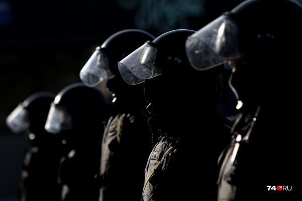 Оцепление выставили за несколько часов до предполагаемого начала акции протеста