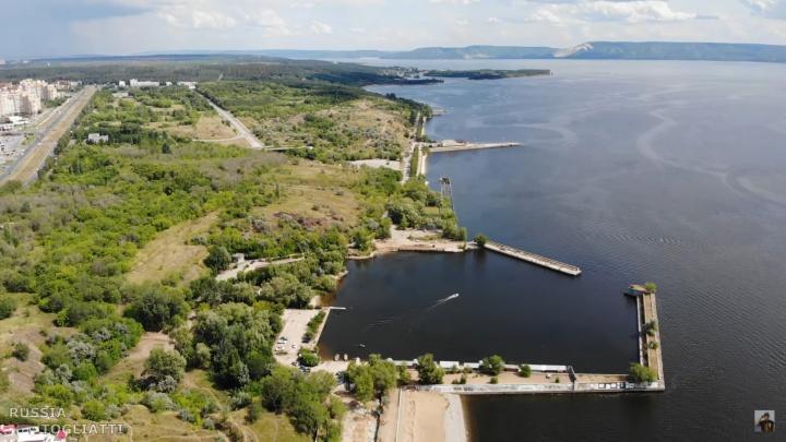 Снесли лестницы и бордюры: появилось видео начала реконструкции набережной в Тольятти