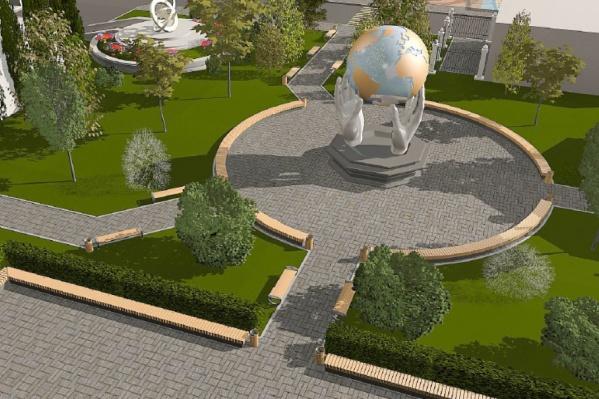 Арт-объект с земным шаром хотят установить вблизи ТЮЗа