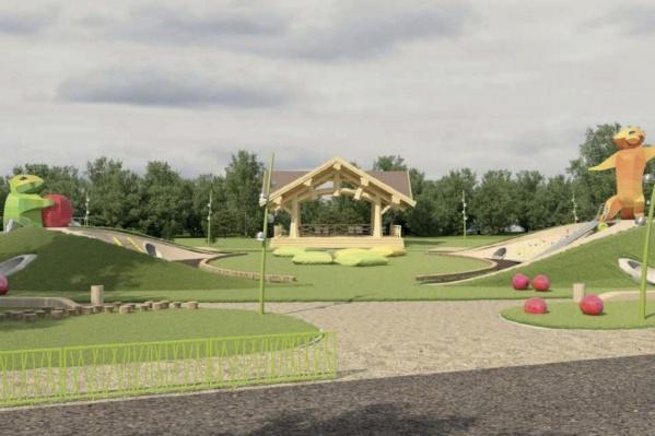 Концертная площадка в новом детском городке