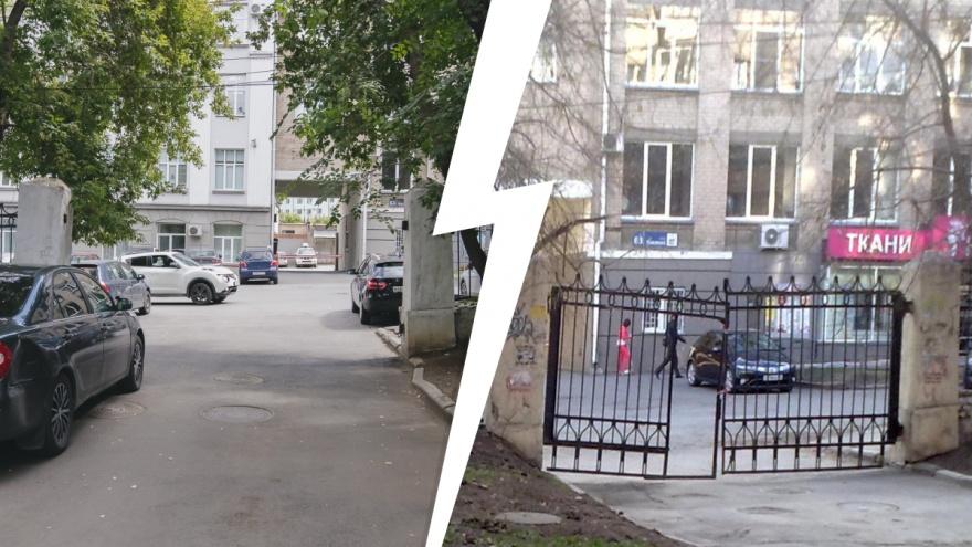 «Министерские и полиция сделали себе парковку»: жители двора в центре Челябинска взбунтовались против демонтажа ворот