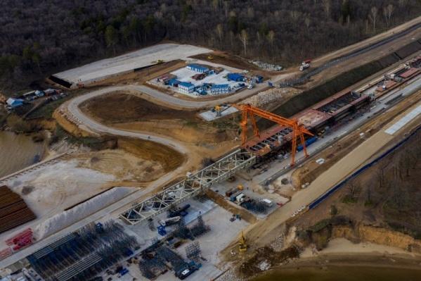Строительство объекта проводят в пять этапов
