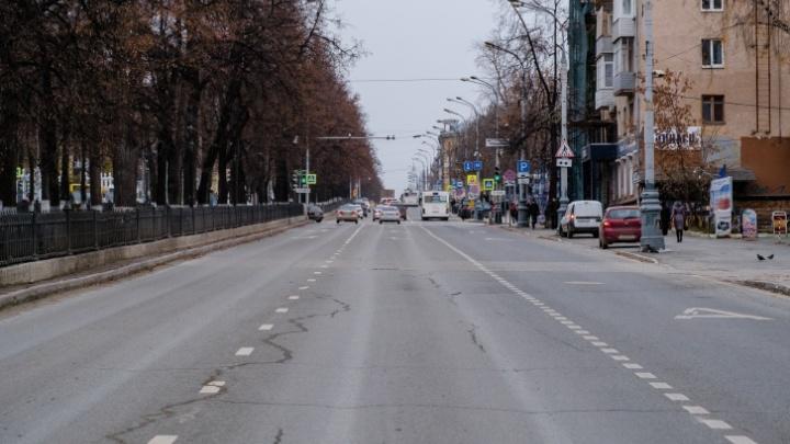 В Перми автомобилям разрешили ездить по автобусным полосам на Комсомольском проспекте