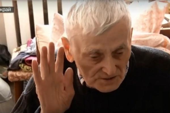 Ветерану Василию Ушакову 91 год