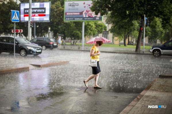 В Новосибирске установится дождливая погода