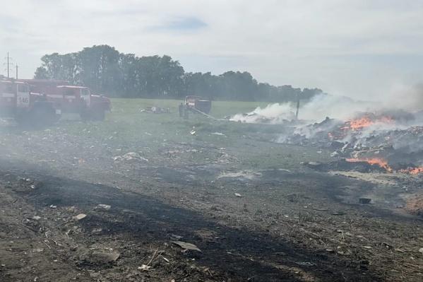 На полигоне несколько очагов возгорания<br>