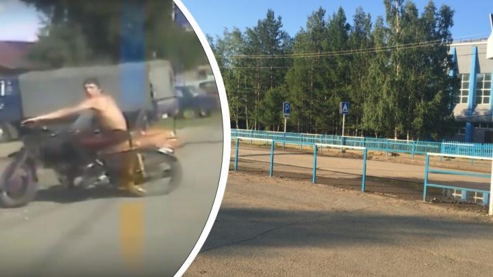 Пьяный водитель в третий раз попался за рулем. На этот раз он свалился с мотоцикла во время погони