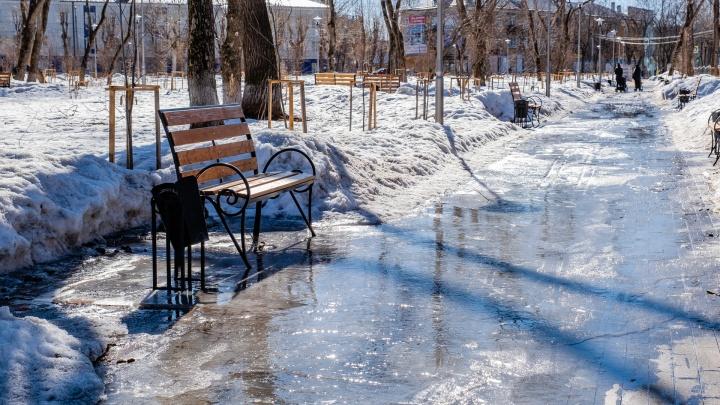 Два суточных рекорда подряд: в начале февраля в Перми зафиксировали максимально высокую температуру