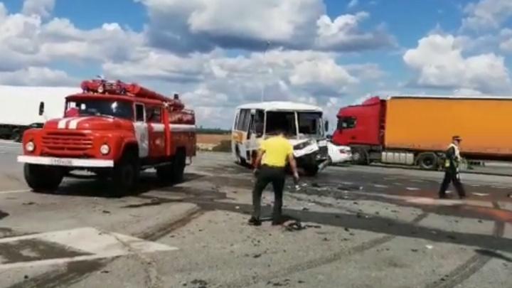 В Башкирии в ДТП с автобусом и Audi A6 пострадали дети