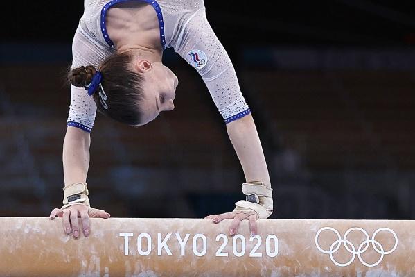 Владислава Уразова во время финальных соревнований