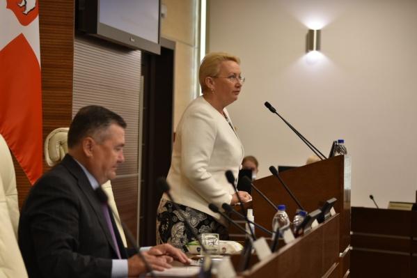 Светлана Денисова выступила с докладом в региональном парламенте
