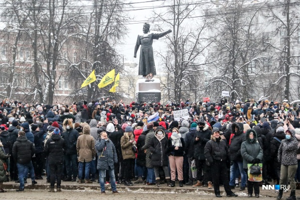 Шествие 23 января проходило по улице Большой Покровской