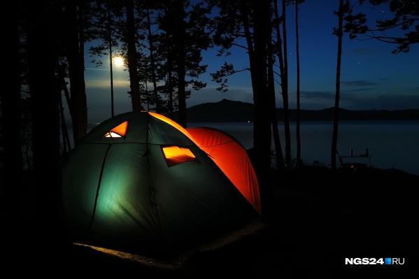 Пришло время отдыха в палатках