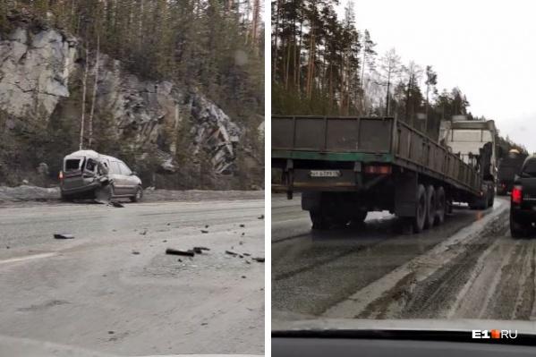 Авария случилась в районе горы Лиственной