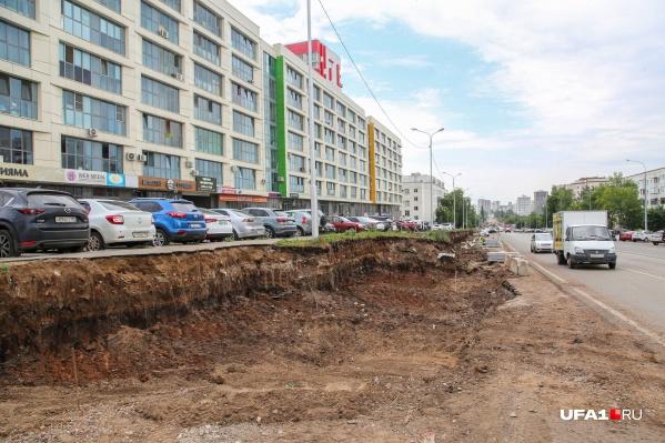 Движение для машин на улице Комсомольской открыли в День города в Уфе