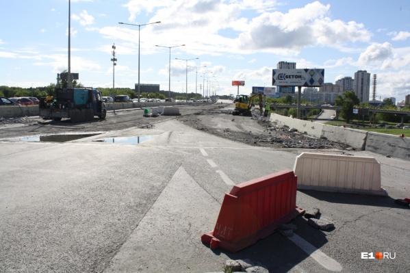 Развязку на Луганской начали ремонтировать 15 мая