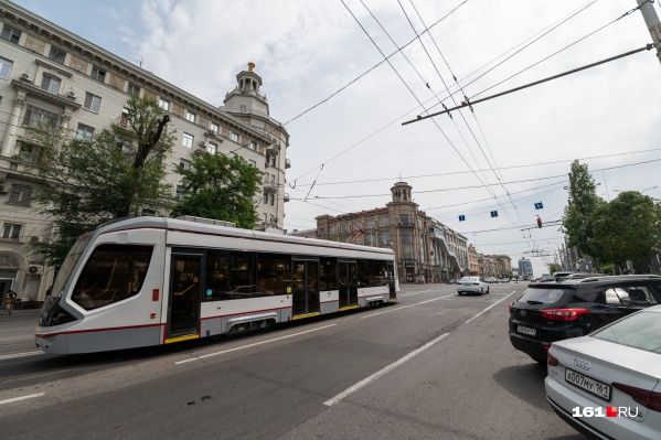 Новенькие трамваи радуют глаз