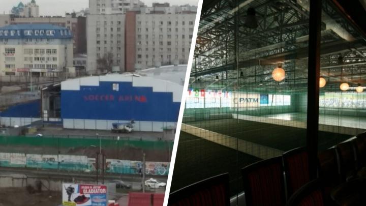 В Новосибирске начался демонтаж спорткомплекса «Соккер Арена»