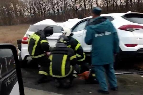 Авария произошла накануне во второй половине дня