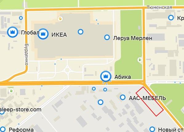 Красным прямоугольником мы отметили месторасположение будущего магазина Hoff