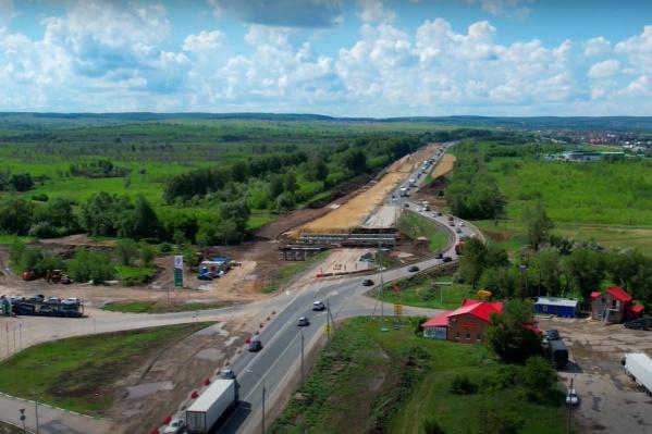 Проект реконструкции предусматривает расширение дороги